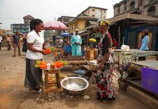 Market woman  affected by lock-down