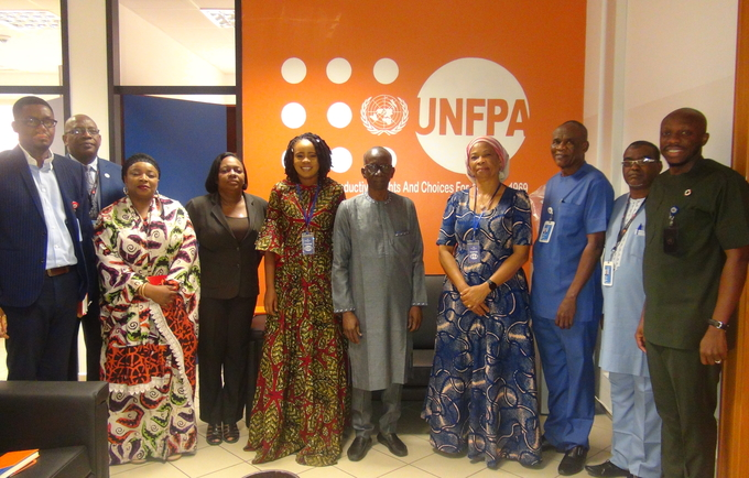 The Honourable Commissioner, Ministry of Cooperation Cross River State (MIDC) Dr. Inyang Asibong with UNFPA Deputy Regional Director and OIC UNFPA Nigeria, Dr Mamadou Kante met on January 22.
