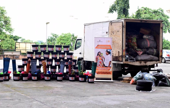UNFPA supports flood victims with over 5700 relief items for women and girls, including dignity kits for pregnant women and lactating mothers.