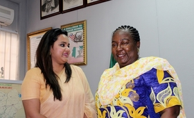 Mrs. Ifeoma Nkiruka Anagbobu and Ms. Jayathma Wickramanayake examined the challenges in advancing youth priorities in Nigeria.